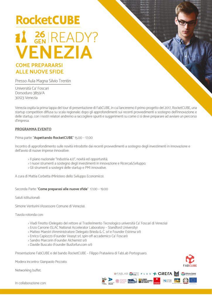 A4 PROGRAMMA - EVENTO 01 - 26 GEN 17 - VENEZIA