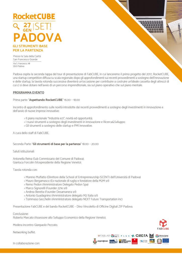 A4 PROGRAMMA - EVENTO 02 - 27 GEN 17 - PADOVA